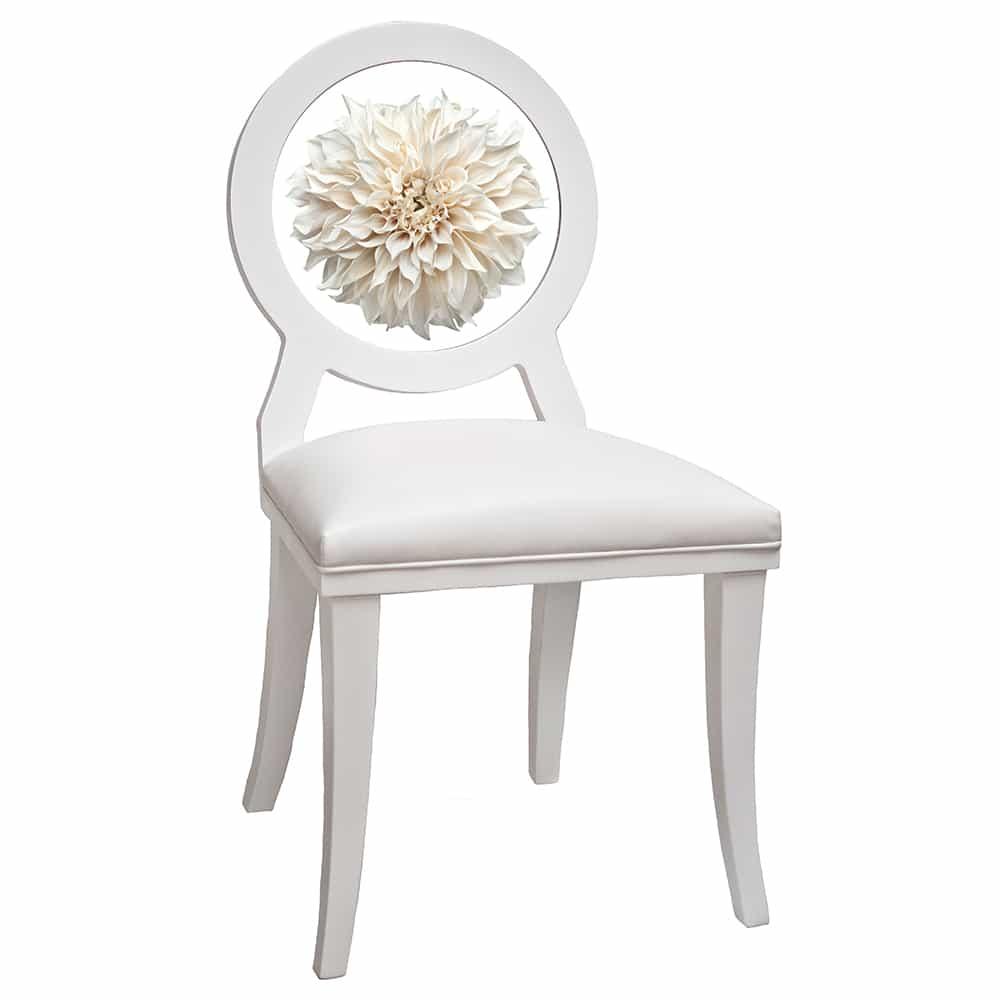 White Dahlia Floret