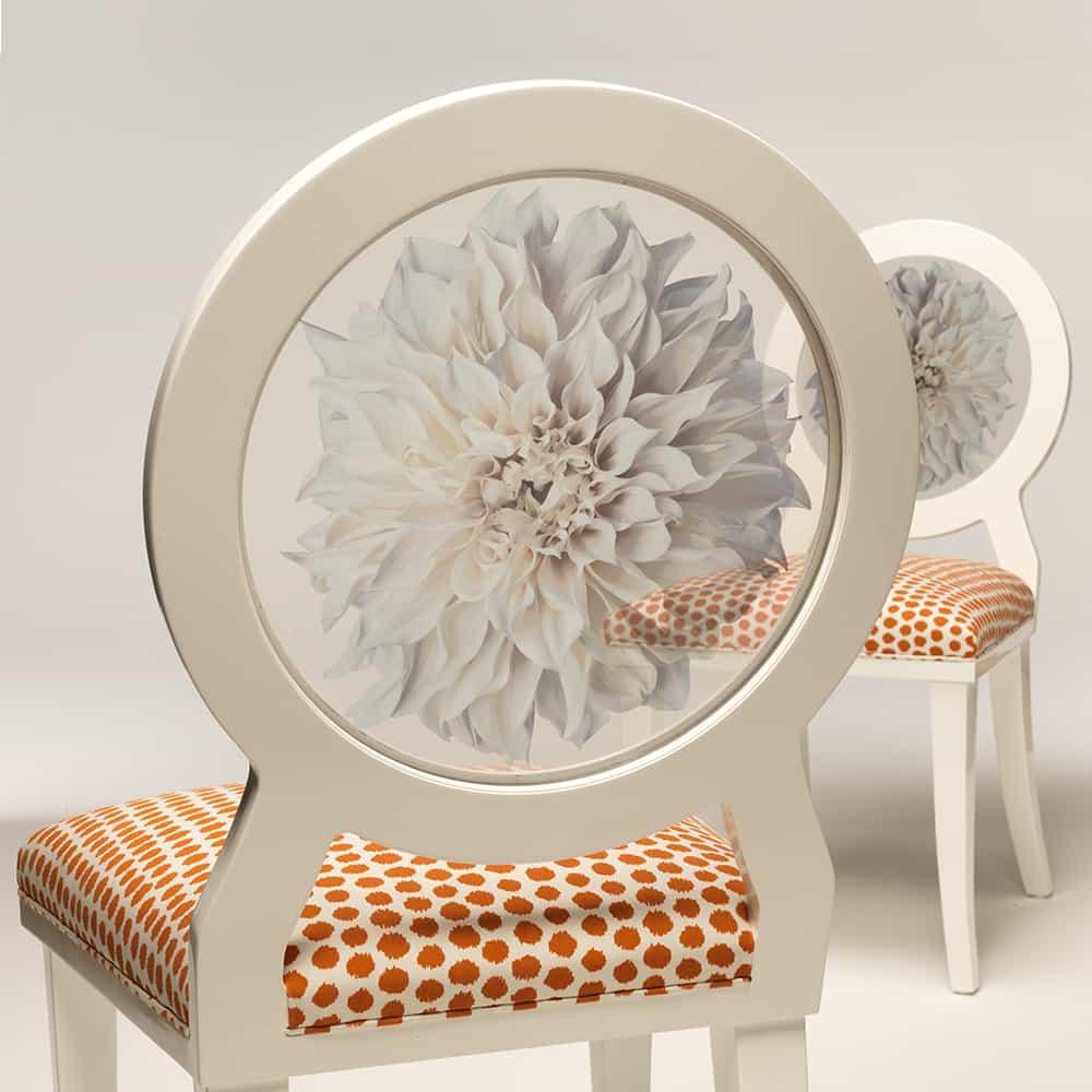 Dahlia fabirc chair