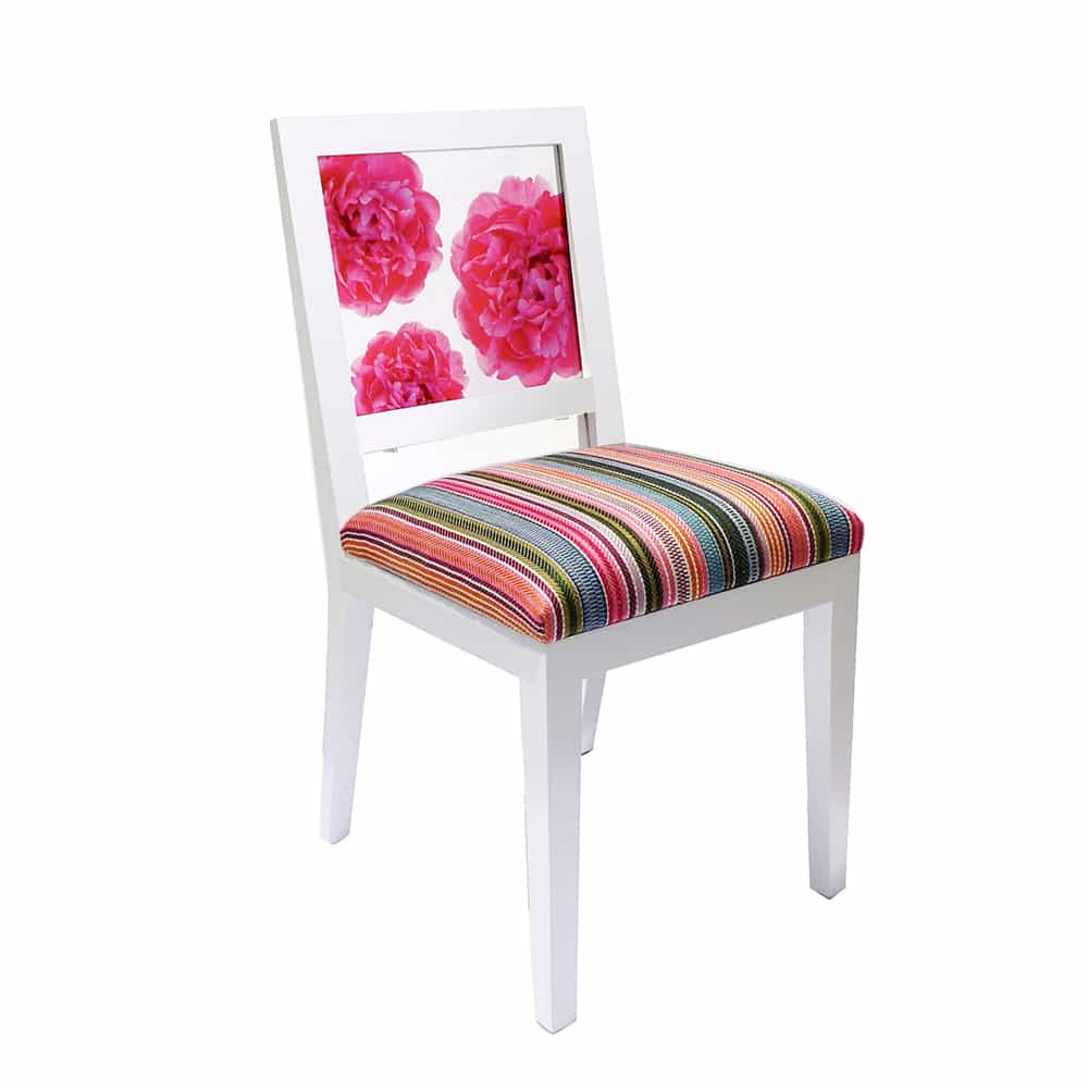 pink peony window chair