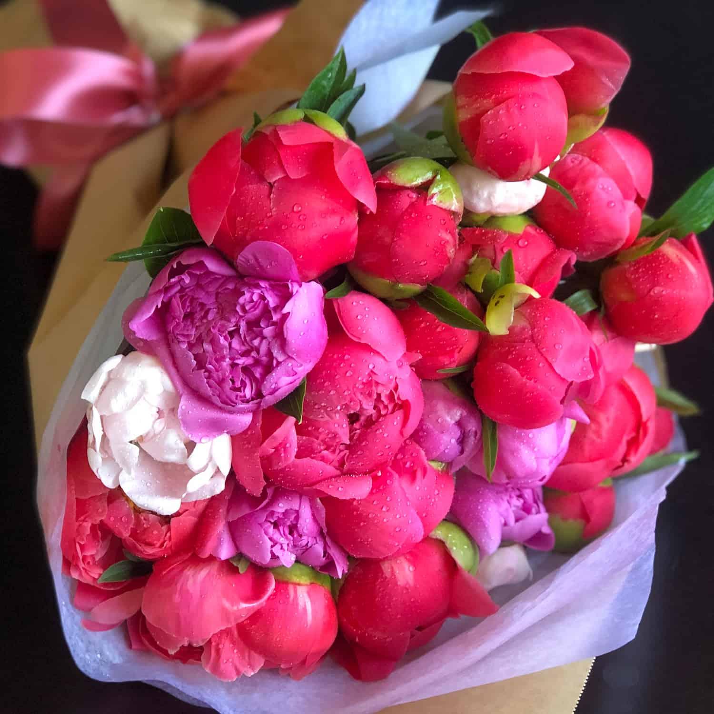 2 dozen Wrapped Peony Bouquet