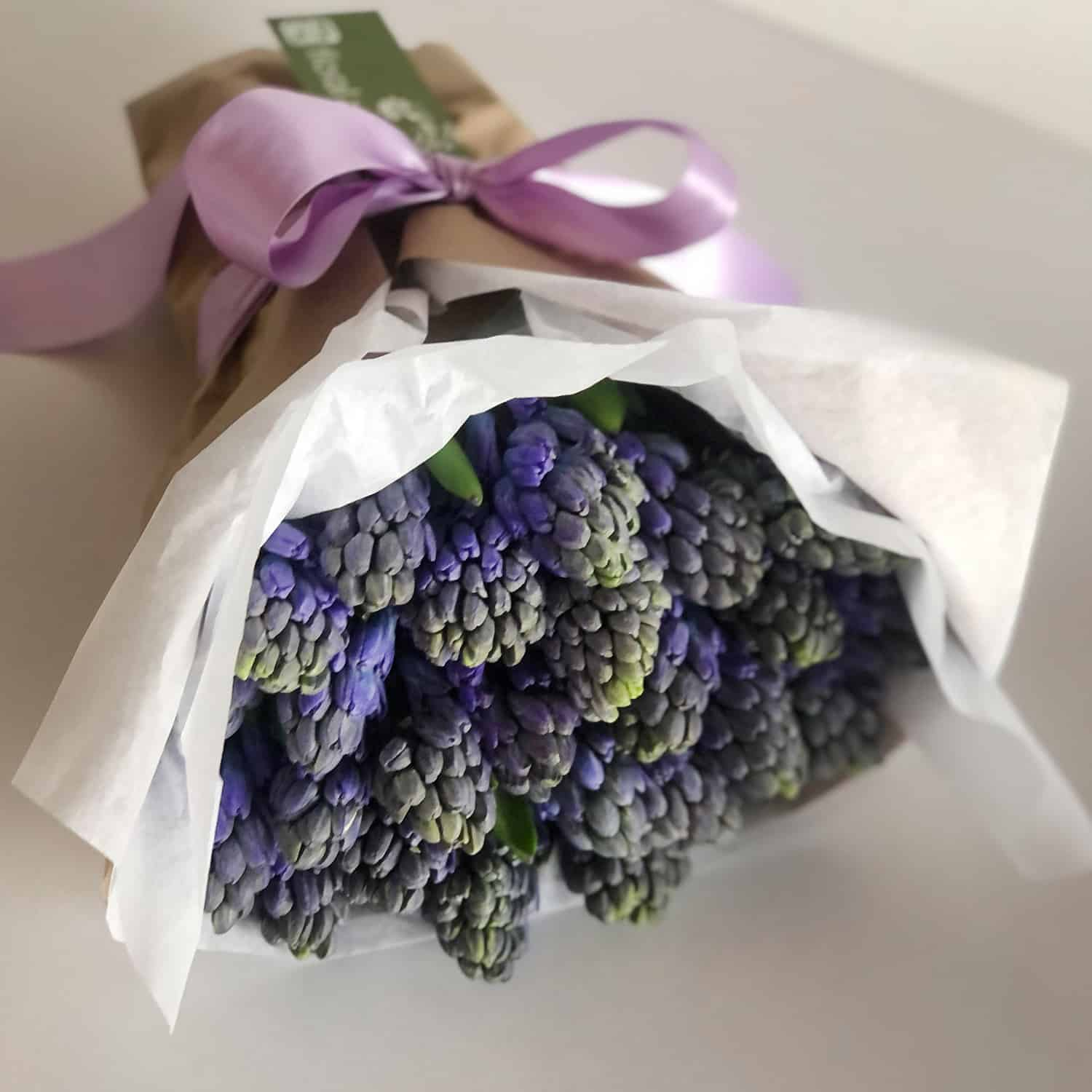 periwinkle hyacinth bouquet